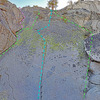 Grimsel - Eldorado sector - Right slab<br> L. Snake<br> M. Right Slab Center<br> N. Right Scramble