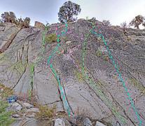 Rock Climbing Photo: Grimsel - Eldorado sector - Center slab H. Center ...
