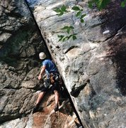 Rock Climbing Photo: Clutch and Cruise, 5.8. Adirondacks.