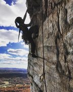 Great spot to belay comfortably for le Teton