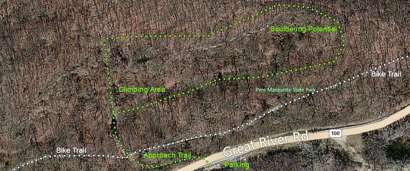 Rock Climbing Photo: Climbing Area Map