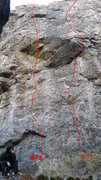 Rock Climbing Photo: The left routes.
