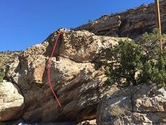 Rock Climbing Photo: Beta for John Wayne's Delight.
