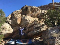 Rock Climbing Photo: Josh near the start of John Wayne's Delight.