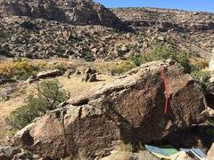 Rock Climbing Photo: Beta for Butt-Faced Miscreant.