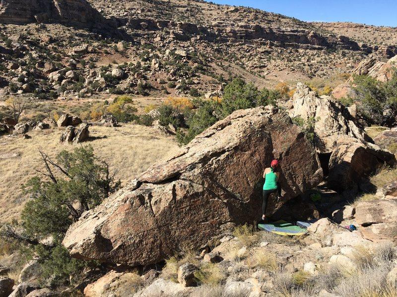 Rock Climbing Photo: Start of Butt-Faced Miscreant.