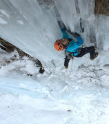 Rock Climbing Photo: The top columns are often the crux of the route. M...
