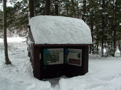 Rock Climbing Photo: The kiosk next to the parking area. Make sure to s...