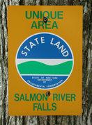 Rock Climbing Photo: State markers at Salmon River Falls.