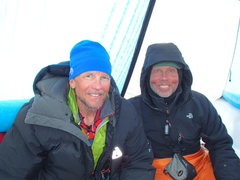 Jim and Tom at 14 camp on the West Butt, June 2016