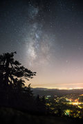 Rock Climbing Photo: Milky way as seen from the top of Lunch Rock.