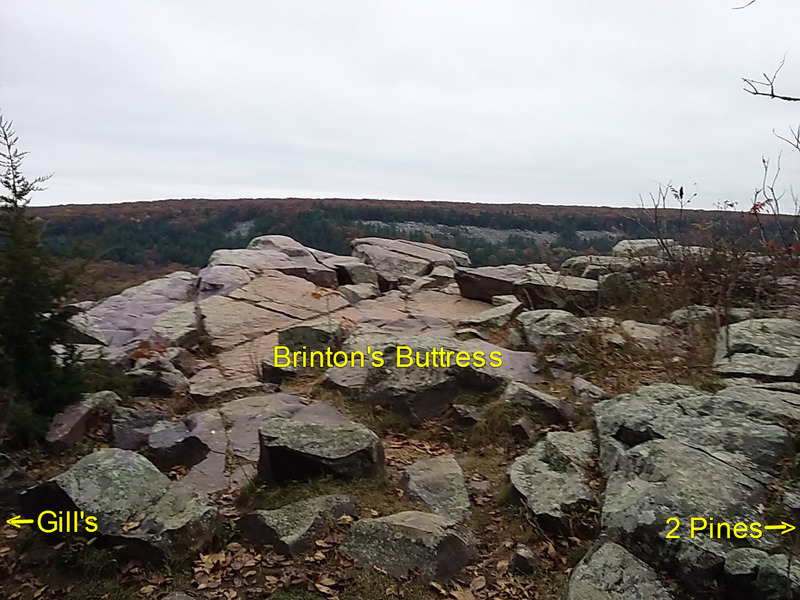 Rock Climbing Photo: Top of Brinton's Buttress as viewed from the E...