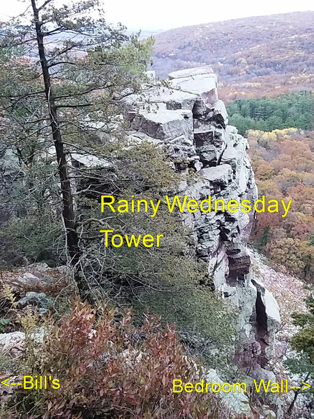 Rock Climbing Photo: Top of Rainy Wednesday Tower as viewed from East B...
