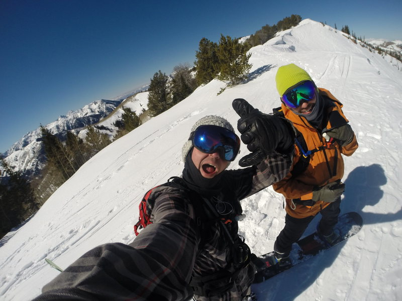 Dropping in with big bro @ Park City, UT