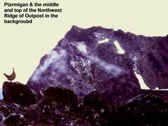 "Rock Climbing Photo: NW Ridge Outpost - yup, typo on ""background&q..."
