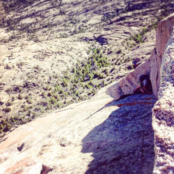 Rock Climbing Photo: The final pitch, 5.5 crack with an incredible view...