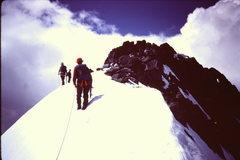 Rock Climbing Photo: Approaching the class 3/4 rock