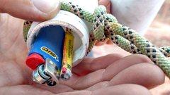Rock Climbing Photo: Victory firecracker in summit register bottle.