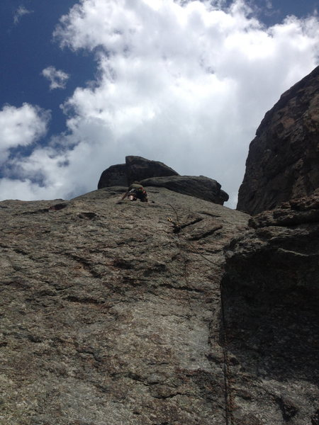 Rock Climbing Photo: View from the third belay station (counting the gr...