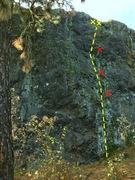 Rock Climbing Photo: Skipping Stones at Cliff Drive in Spokane, WA.