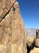 "Rock Climbing Photo: F.A. "" Sunken Treasure "" 5.10d"