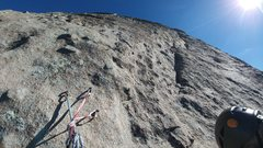 Rock Climbing Photo: Looking up at P7. Follow the seam to the right to ...