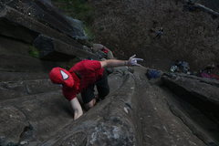 Rock Climbing Photo: Spiderman showed up for Halloweekend to do a littl...