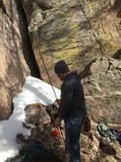 Rock Climbing Photo: You can see the base of Vixen (the large crack).  ...