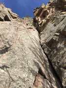 Rock Climbing Photo: This is from the base of Vixen (right side, large ...