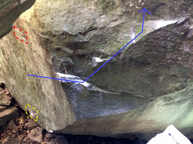 Better view of the second section of the boulder