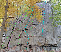 Rock Climbing Photo: Scheyichbi sector - Left side A. West Dihedral vB....