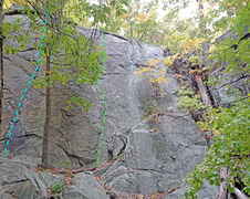 Rock Climbing Photo: Scheyichbi sector - right side: F. The Crack (Unde...