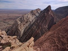 Rock Climbing Photo: view from the summit of the formation and before w...