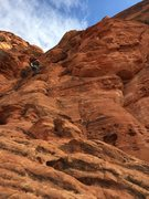 Rock Climbing Photo: View of the first pitch - took us a second to figu...