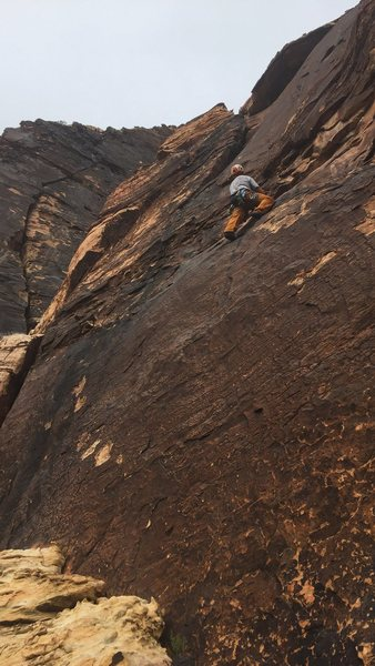 Rock Climbing Photo: The traverse at pitch 3