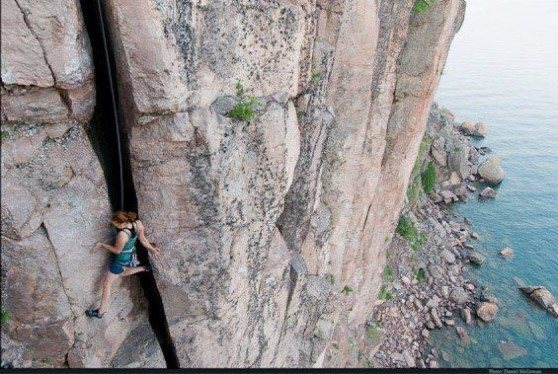 "Rock Climbing Photo: Northshore in Minnesota. My ""friends"" pu..."