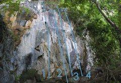Rock Climbing Photo: Alamo Topo Photo Right: 1: 'Snake Hickey' ...