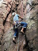 Rock Climbing Photo: Harness, helmet, beer, rack, doubled back knot. Cl...