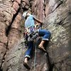 Harness, helmet, beer, rack, doubled back knot. Climbing!  Pic Satermo