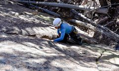 Rock Climbing Photo: The start of the climb.  Funky first few moves to ...