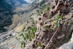 Some choose to take alternate routes on the via ferrata.