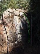 Rock Climbing Photo: Green - When Rabbits Fly - an incomplete project (...