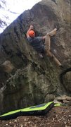 Rock Climbing Photo: Heading for the topout on the FA, and yes, all the...