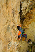 Rock Climbing Photo: Working through the lower section.