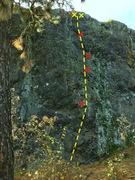 Rock Climbing Photo: Secrets of Giants at Cliff Drive in Spokane, WA.