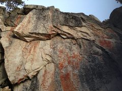 Rock Climbing Photo: Black Bluff - N. Face (Left Side)
