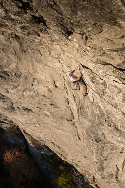 Golden Hour! Ben seconding Bolder Problem in Space on a perfect October day.