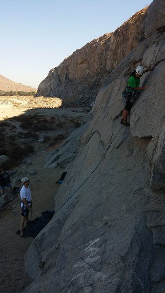 Rock Climbing Photo: Brother in law Joe and Sister in law Aileen at Riv...