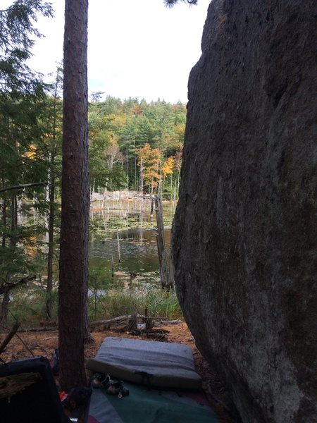 Rock Climbing Photo: What you see when approaching the line