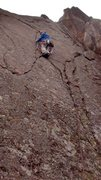 Rock Climbing Photo: Ross leading pitch one of Magnum PI.